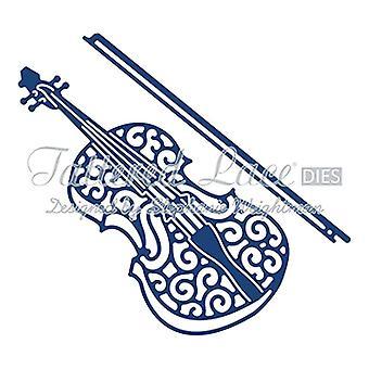 Violin: Tattered Lace Metal Die Paper Card Stephanie Weightman