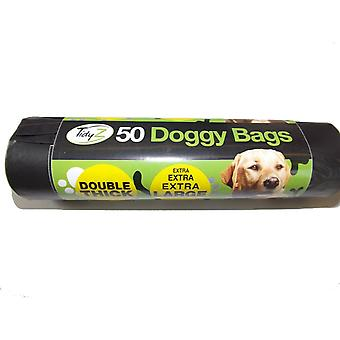 TidyZ Double Thick Doggy Plastic Bags (Roll of 50)