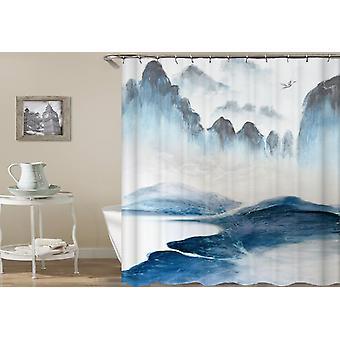Ocean Cliffs Art Shower Curtain