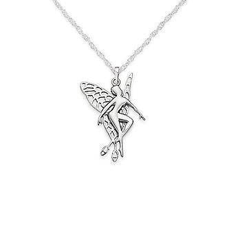 Folklore Celtic Fairy Shaped Necklace Pendant - Includes A 20