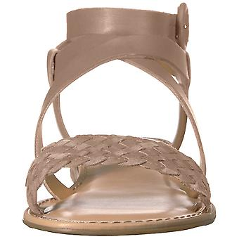 Franco Sarto Womens Georgetta Leather Open Toe Casual Ankle Strap Sandals