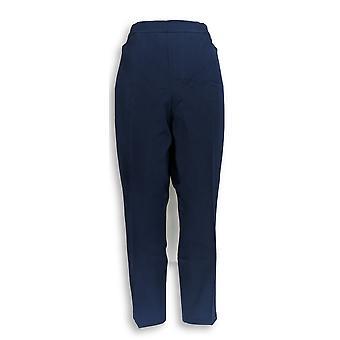 Isaac Mizrahi Live! Kvinner ' s Petite bukser 20WP 24/7 strekk blå A350689