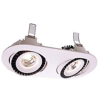 LED infällda tak lampa Shop II 30W 4000K L 258mm vit Swivel dimbar dimbar
