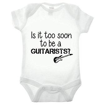 Is it too soon to be a guitarist short sleeve babygrow