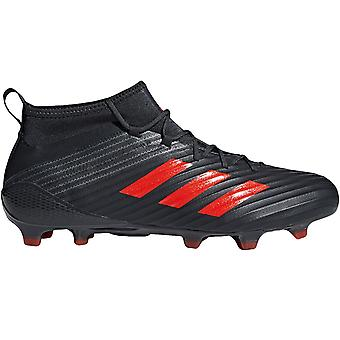 adidas Performance Mens Predator Flare Firm Ground Sports Rugby Boots Black - 13