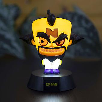 Crash Bandicoot Lamp Doctor Neo Cortex black, made of plastic, comes in gift box, incl. USB cable.