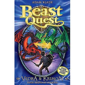 Vedra och Krimon Twin bestar Avantia (Beast Quest)