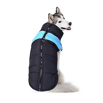 الكلب سترة مبطن ماء الحيوانات الأليفة الملابس سوبر الأزرق الدافئ
