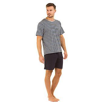 Haigman Crew Neck Striped Short Pyjama Set Loungewear 3071