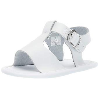 Baby Deer Girls' Leather Sandal, White, 0 Regular US Infant