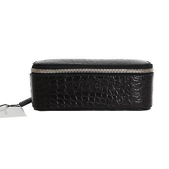 Dolce & Gabbana zwart patroon lederen accessoire doos