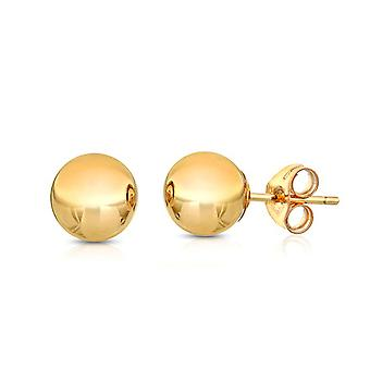 Ah! Jewellery 6mm 24K Gold Over Sterling Silver Round Studs, Stamped 925