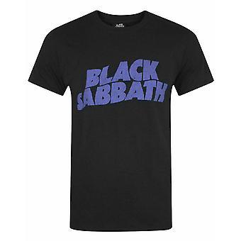 Black Sabbath Wavy Logo Men's T-Shirt
