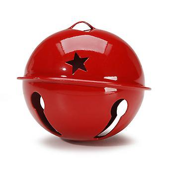 70mm Jumbo Red Jingle Bell met Star Cutouts voor Ambachten