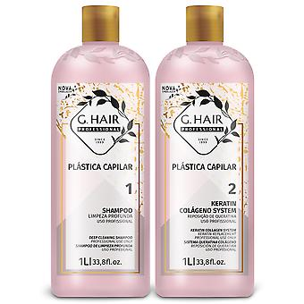 G.Hair Professional Plastica Capilar Two Step Kit - 1 Litre x 2