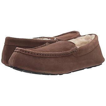 Amazon Essentials Men's Leather Moccasin Slipper, Expresso, 8 M US