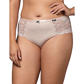 Nipplex Women's Pia Cappuccino Beige Spotted Lace Knickers Panty Full Brief