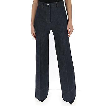 Victoria Beckham 1120dtr000664a Femme-apos;s Pantalon en coton bleu