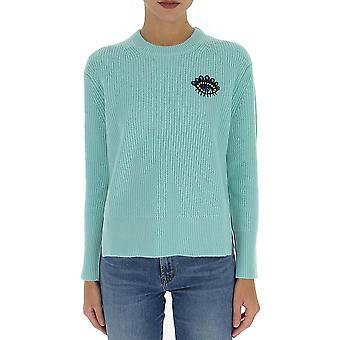 Kenzo F962to6433xf58 Women's Green Cashmere Sweater