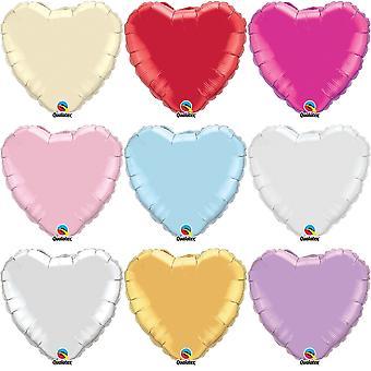 Qualatex 36 Inch Heart Shaped Plain Foil Balloon