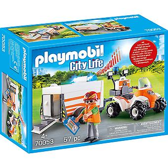 Playmobil 70053 City Life Rescue Quad with Trailer 57PC Playset