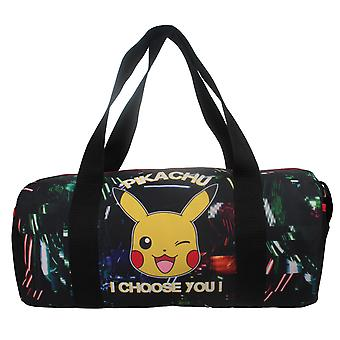 Pikachu I Choose you Glow in the Dark Kids Pokemon Sports Duffel Bag