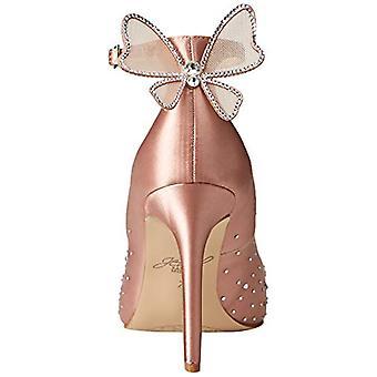 Jewel Badgley Mischka Women's KAMI Shoe, blush satin, 10 M US