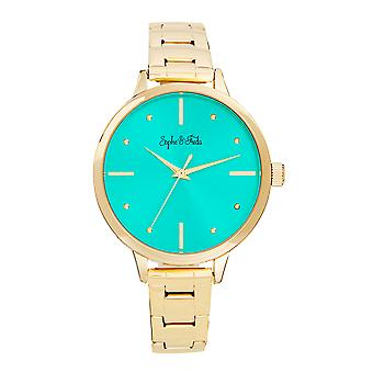 Sophie and Freda Milwaukee Bracelet Watch - Gold/Teal