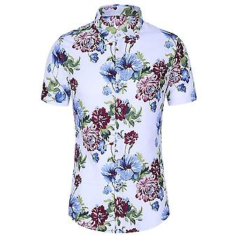 Allthemen Men's Havaiano T-shirts Floral Printed Summer Beach Tops