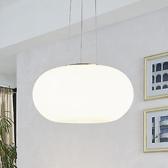 Eglo Optica Medium Opal White Glass Globe Pendant