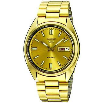 Seiko 5 Automaattinen Kulta PVD Ruostumaton teräs Miehet's Watch SNXS80K1
