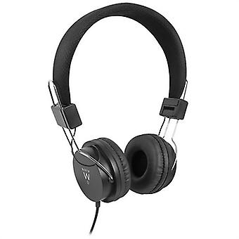 Headphones with headband ewent ew3573 (3.5 mm) black