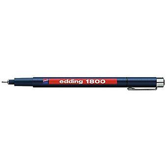 edding-1800 profipen 0.3 black 10PC 0,35 mm / 4-180003001