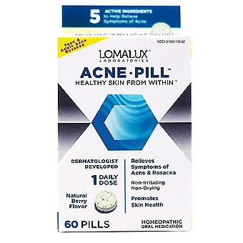 Lomalux laboratories acne pill, tablets, natural berry, 60 ea