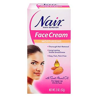Nair hair remover face cream with sweet almond oil, moisturizing, 2 oz