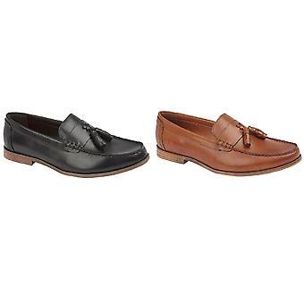 Lambretta Mens Leather Tassel Loafer