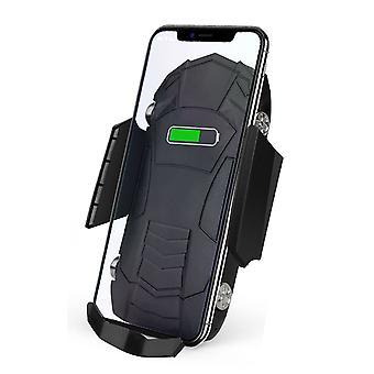 10W / 7.5w / 5w qi trådløs lader infrarød sensor klemme luftventil bil telefonholder for 4,0-6,5 tommers smarttelefon