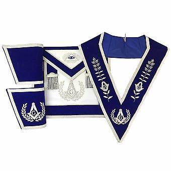 Lodge master mason apron hand embroidery apron gauntlet and collar set