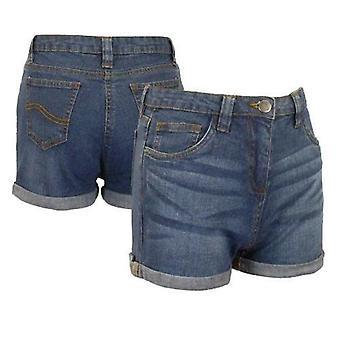 Piger Denim Shorts Rullet Hem