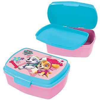PAW PATROL Children's bread tin with plastic pink insert