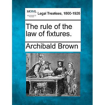 The rule of the law of fixtures. by Brown & Archibald