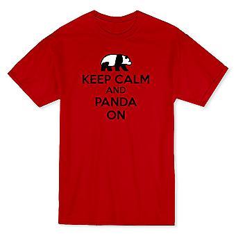 """""""Holde ro og Panda på"""" Panda Center brystet grafisk menn t-skjorte"""