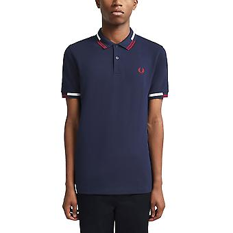 Fred Perry Men & apos, s abstrakt tippade Polo T- Shirt Regular Fit