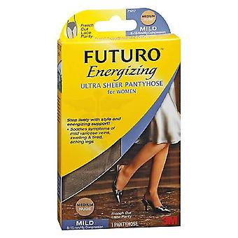 Futuro energizing ultra sheer pantyhose, mild, french cut, med., 1 pair