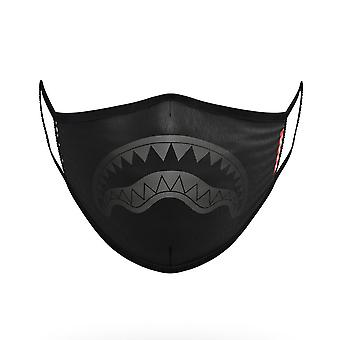 Sprayground Midnight Shark Form Fitting Face Mask Black