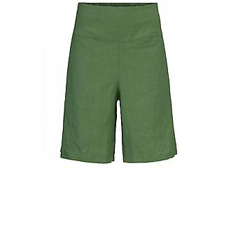 Masai Clothing Pinja Elm Green Linen Shorts