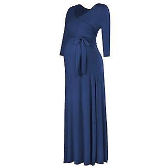 BBHoping Ženy & apos, s krátky rukáv v krku faux zábal Maxi tehotenské šaty s adju ...