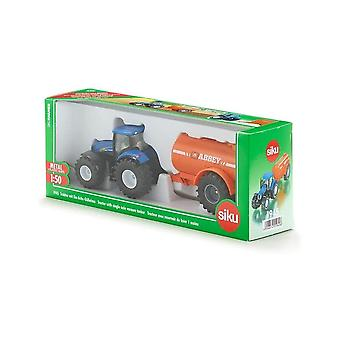 Siku New Holland Tractor With Single Axle Vacuum Tanker 1:50 1945