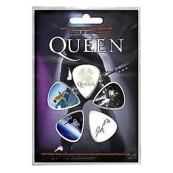 Queen Plectrum Pack Guitar Pick x 5 bändi logo Brian May Freddie uusi virallinen
