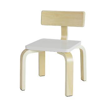 SoBuy KMB29-W, Sedia per bambini per bambini, Sedia per bambini in legno con schienale, Sedia camera per bambini, Sedia Bianca